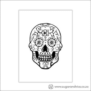 Sugar Skull Limited Art A4 Print