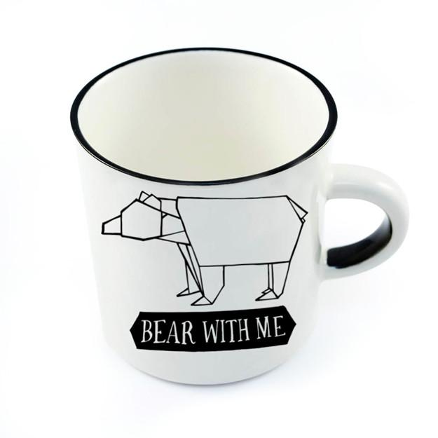Ceramic Coffee Mugs - Cute white bear ceramic mug online - Sugar and Vice - Cape Town