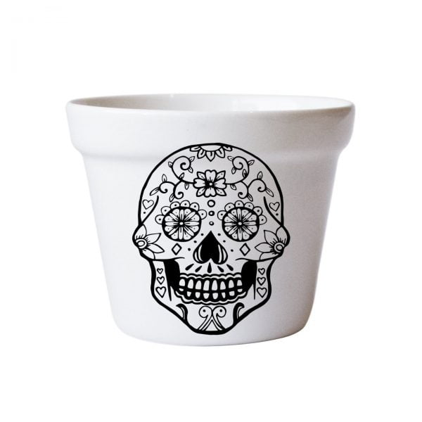 Planters for Sale - Skull handcrafted ceramic planter online - Sugar and Vice - Cape Town