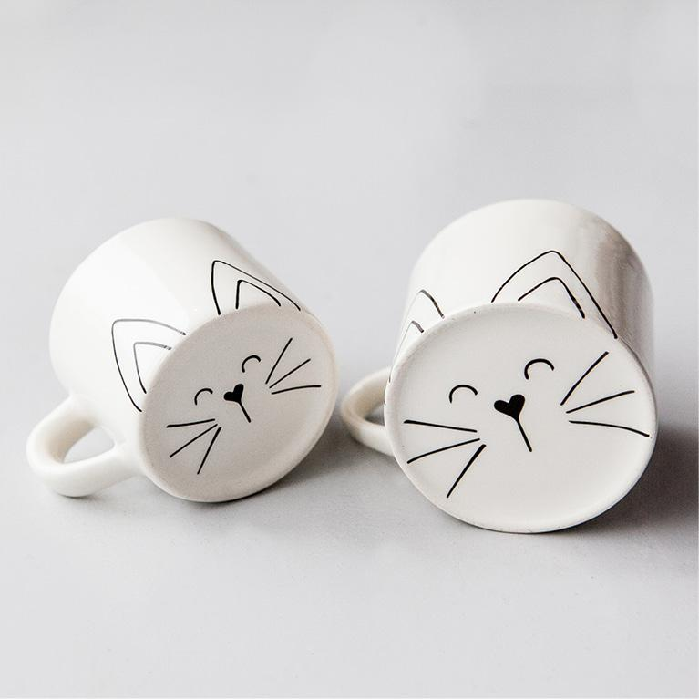 Mom & Toddler Cutie Cat Mug set