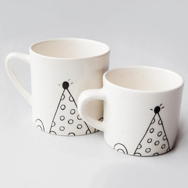 Mom & Toddler Party Bear Mug set