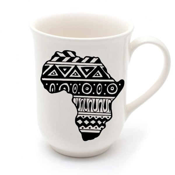 Unique Coffee Mugs - Coffee addict African design mug online - Sugar and Vice - Cape Town