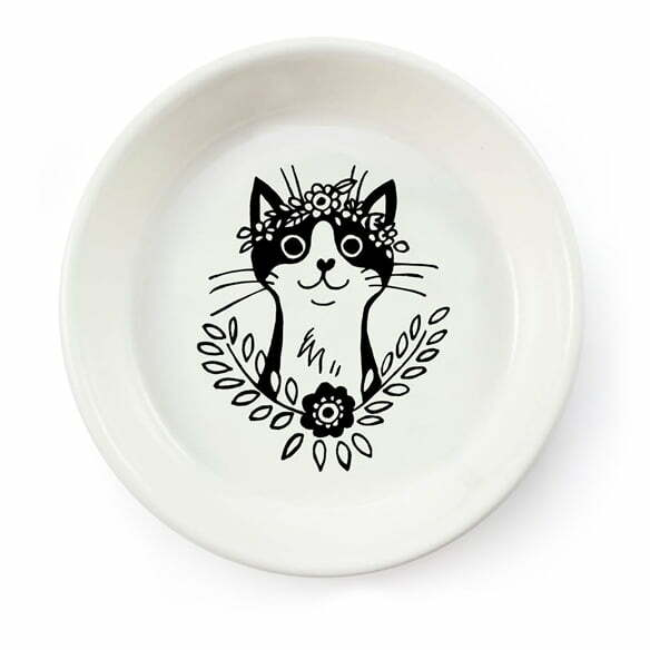 Handmade black cat ceramic bowl online - Sugar and Vice - South Africa