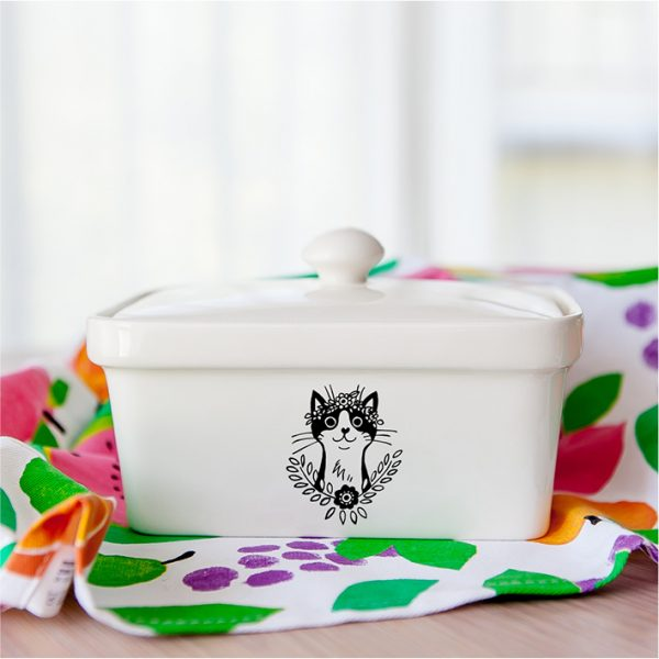 Buy Butter Dishes Online - Handmade cat ceramic butter dish online - Sugar and Vice - Cape Town