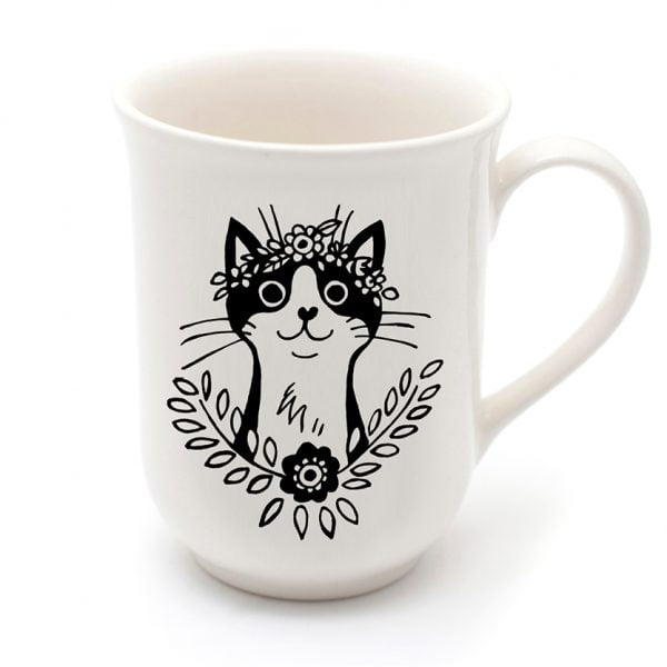 Beautiful Coffee Mugs - Cute handmade ceramic cat mug online - Sugar and Vice - Cape Town