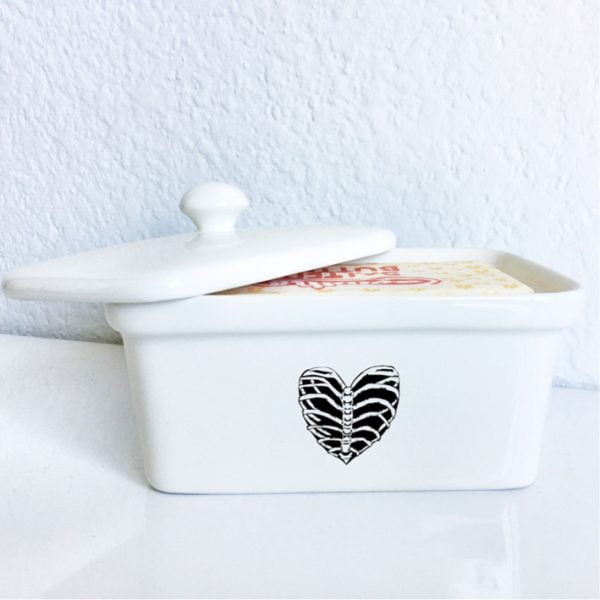 Buy Butter Dishes Online - Ribcage ceramic butter dish online - Sugar and Vice - South Africa