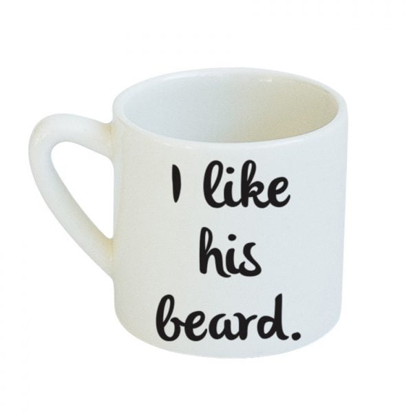 Best Ceramic Coffee Mugs - White Butt & Beard Couple Mug Set online - Sugar and Vice - Cape Town