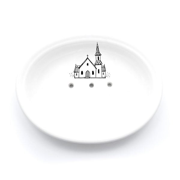 Buy Ceramic Soap Dishes Online - Church Illustration - Cape Town - Sugar and Vice