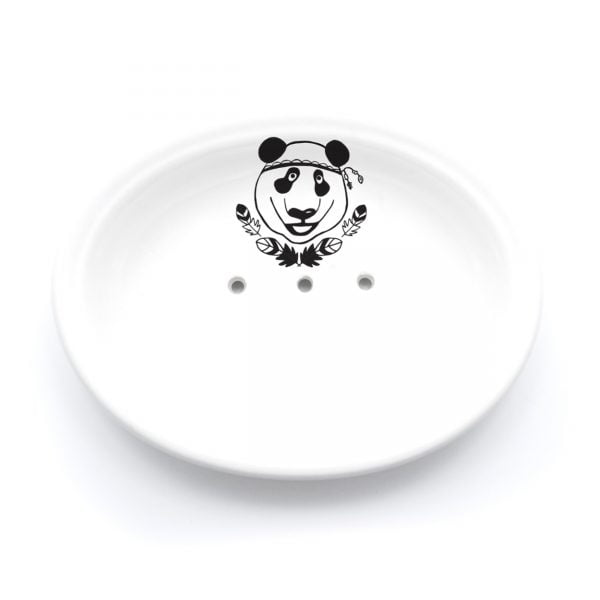 Buy Ceramic Soap Dishes Online - Panda Illustration - Cape Town - Sugar and Vice