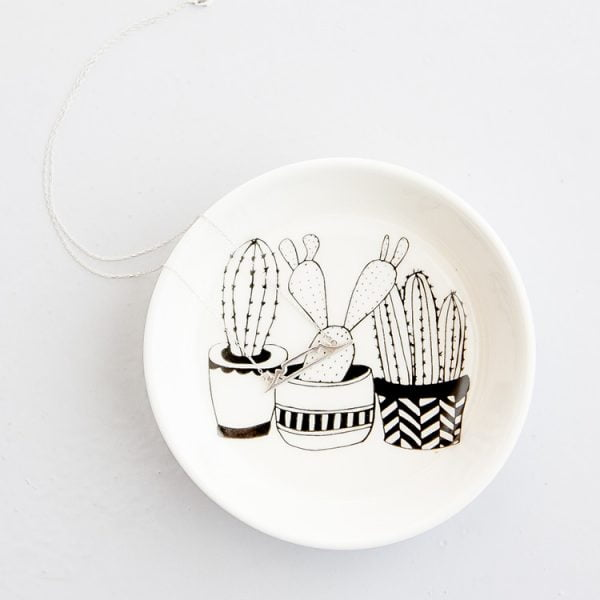 Handmade Cacti ceramic bowl online - Sugar and Vice - South Africa