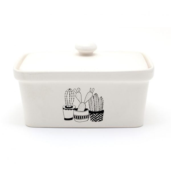 Buy Butter Dishes Online - Handmade Cactus ceramic butter dish online - Sugar and Vice
