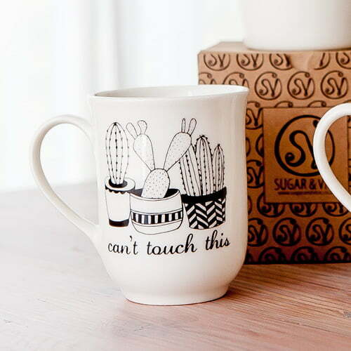 Creative Coffee Mugs - Handmade illustrated cactus quote mug online - Sugar and Vice