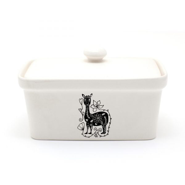Buy Butter Dishes Online - Handmade Llama ceramic butter dish online - Sugar and Vice - Cape Town