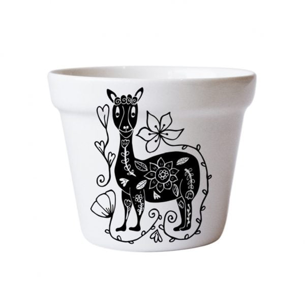 Buy Planters Online - Llama handcrafted ceramic planter online - Sugar and Vice