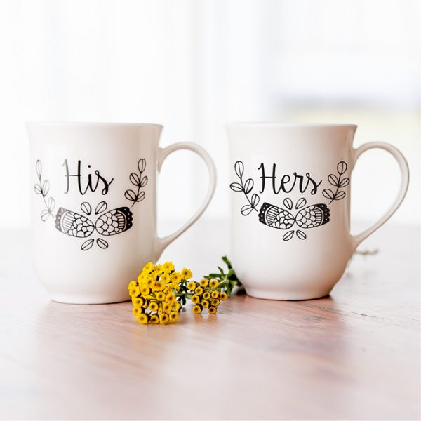 Wedding Gift Ideas South Africa - Wedding gift his & hers mug set online - Sugar and Vice - Cape Town
