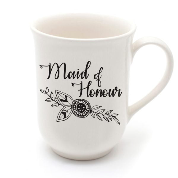 Pretty Coffee Mugs - Handmade maid of honour mug online - Sugar and Vice - Cape Town