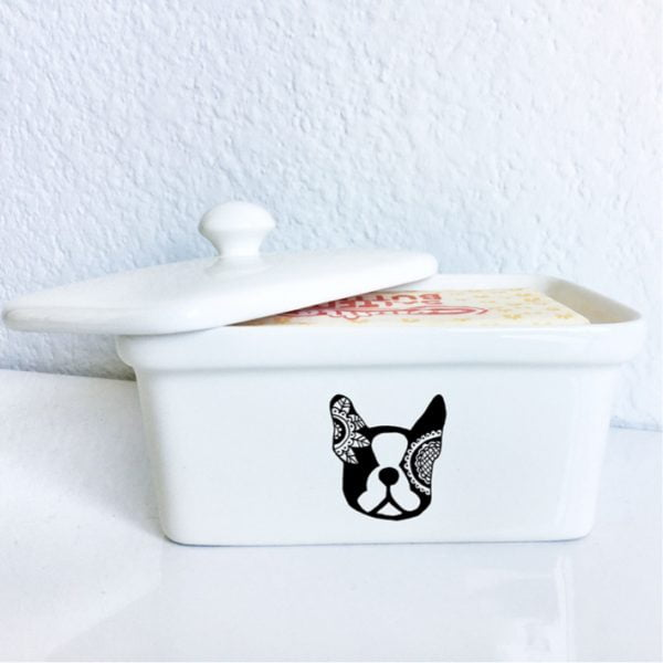 Buy Butter Dishes Online - Handmade dog ceramic butter dish online - Sugar and Vice