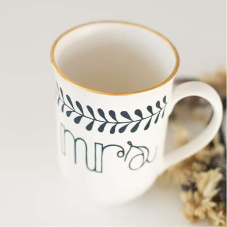 Wedding Gift Ideas South Africa - Gold and navy Mr & Mrs handmade mugs - Sugar and Vice - Cape Town