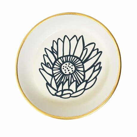 Handmade protea ceramic bowl online - Sugar and Vice - South Africa
