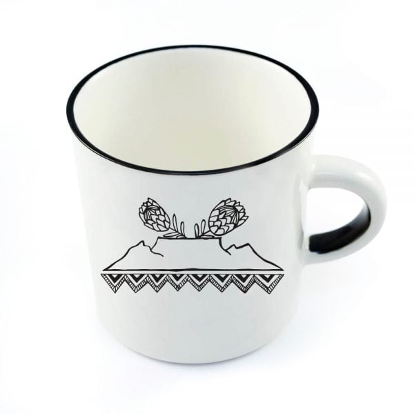 Pretty Coffee Mugs - Cute Table Mountain ceramic mug online - Sugar and Vice - Cape Town