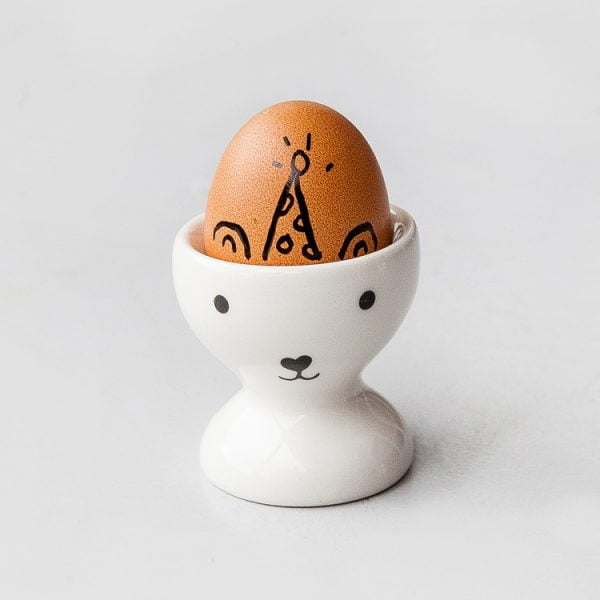 Novelty egg cups - White Party Bear Egg Cup Set online - Sugar and Vice - Cape Town