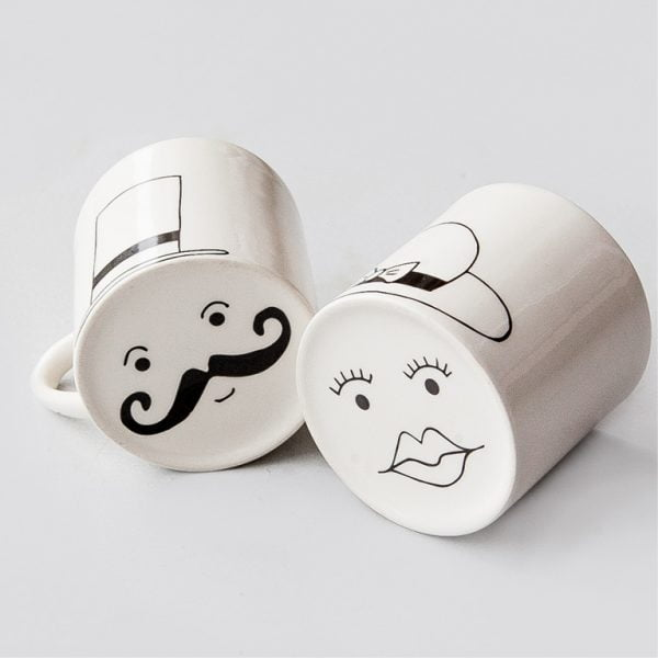 Coffee Mugs - White Sir & Madam Couple Mug Set online - Sugar and Vice - Cape Town