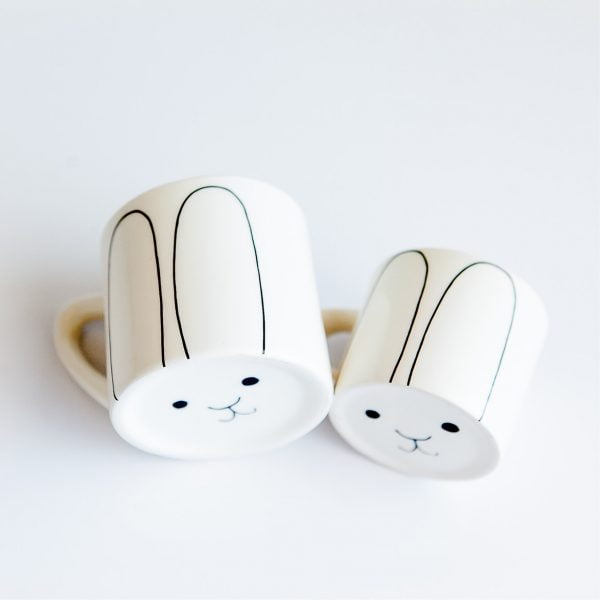 Coffee Cups for Sale - Cute white bunny ceramic mug set online - Sugar and Vice - Cape Town