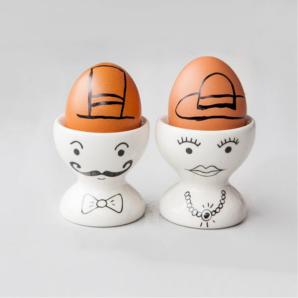 Egg cup sets - White Sir & Madam Egg Cups Set online - Sugar and Vice - Cape Town