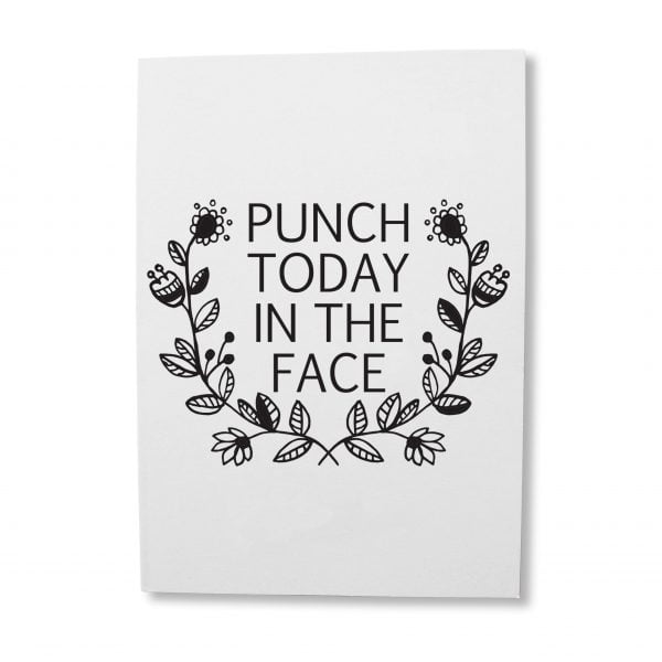 Greeting Cards South Africa - Punch today quote greeting card online - Sugar and Vice - South Africa