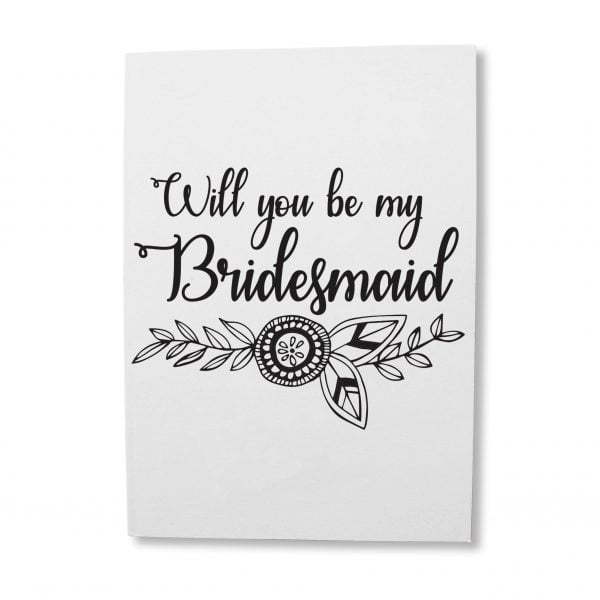 Greeting Cards South Africa - Bridesmaid greeting card online - Sugar and Vice
