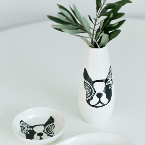 Boston terrier ceramic vase online - Sugar and Vice - South Africa