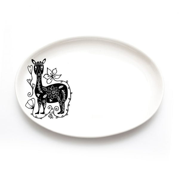 Handmade Llama jewellery plate online - Sugar and Vice - Cape Town