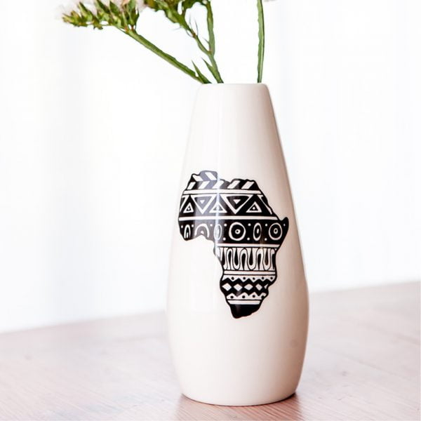 Home Decor Online South Africa - African Continent ceramic vase online - Sugar and Vice - South Africa