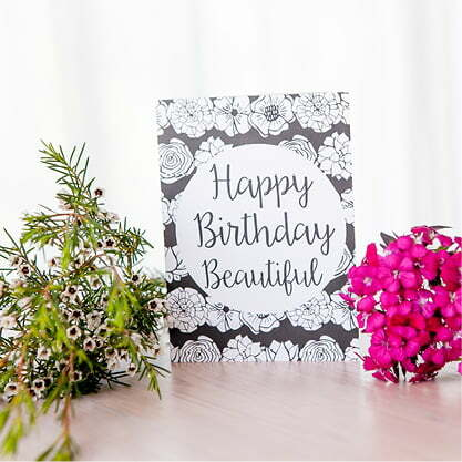 Greeting Cards South Africa - Flower Birthday greeting card online - Sugar and Vice - South Africa