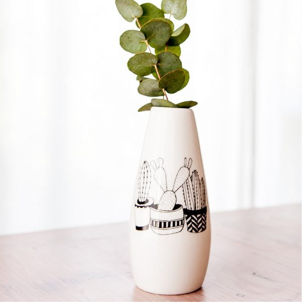 Gifts for her South Africa - Cacti plants ceramic vase online - Sugar and Vice - South Africa