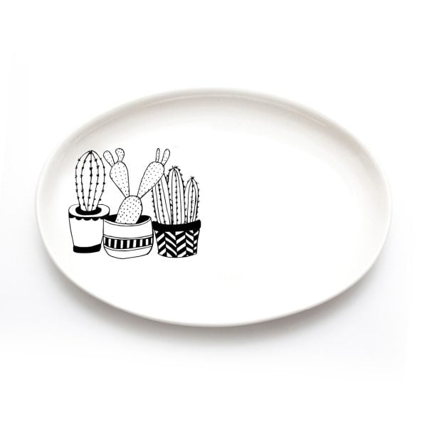 Illustrated cacti plants jewellery plates and organisers online - Sugar and Vice