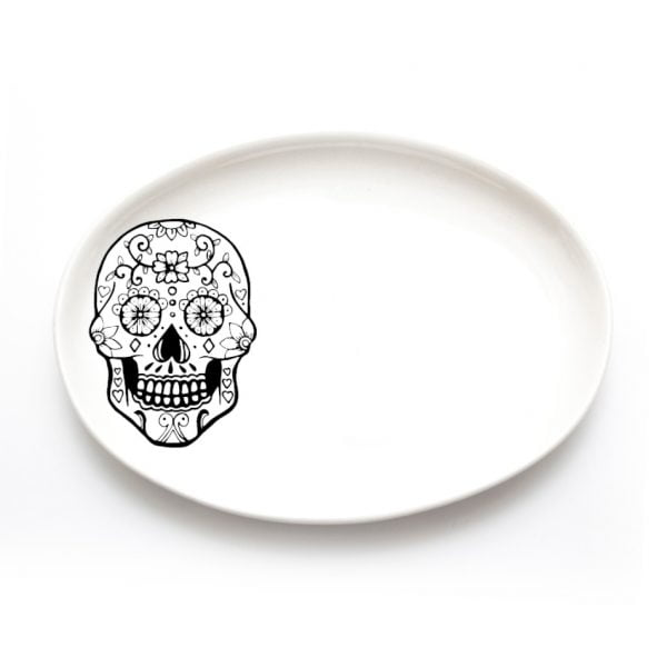 Jewellery Organisers - handmade skull ceramic ring dish online - Sugar and Vice - Cape Town