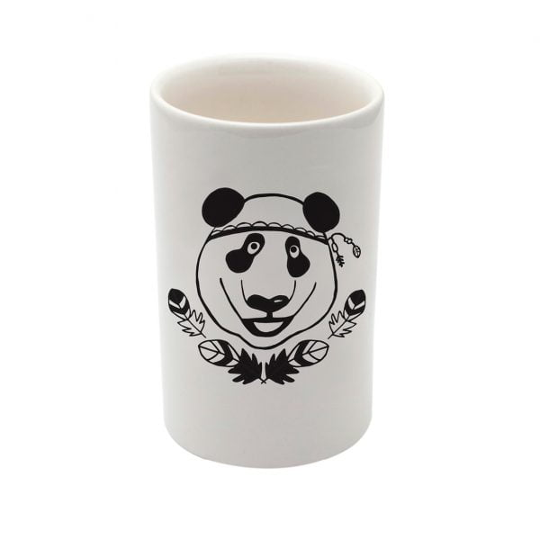 Handmade Panda ceramic jar online - Sugar and Vice - South Africa