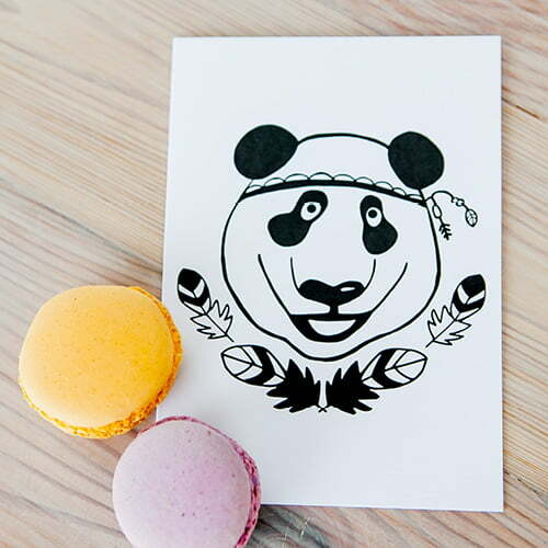 Greeting Cards South Africa - Illustrated Panda greeting card online - Sugar and Vice - South Africa