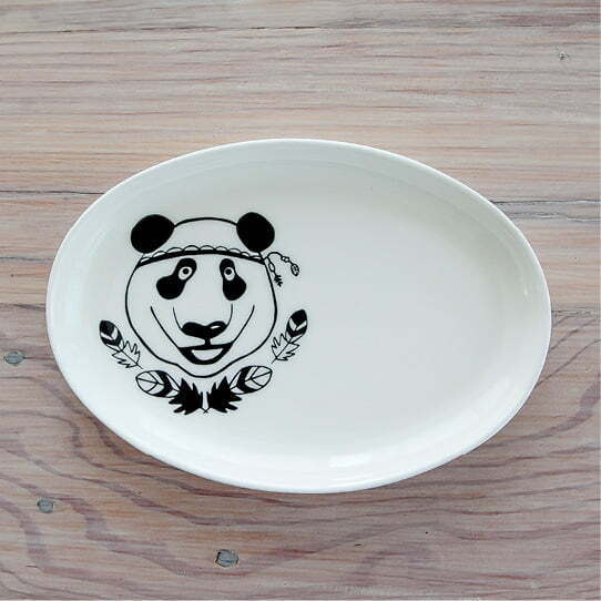 Jewellery Organisers - Illustrated panda jewellery plate online - Sugar and Vice