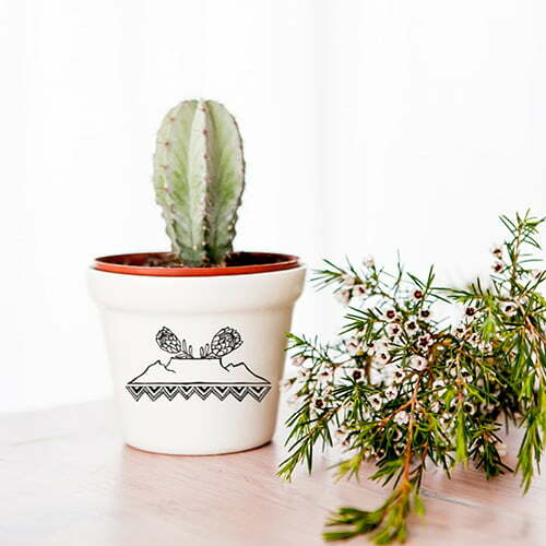 Planters for Sale - Table Mountain ceramic planter online - Sugar and Vice - Cape Town
