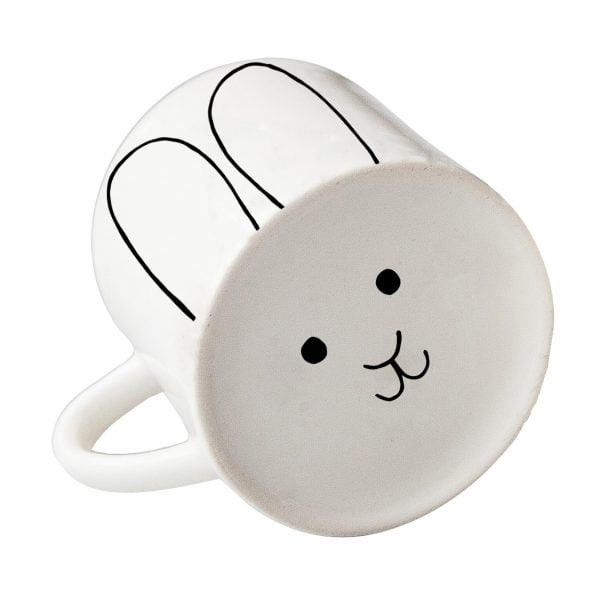 White cute bunny face ceramic mug online - Sugar and Vice3