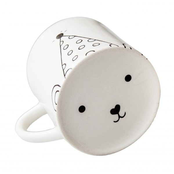 White cute party bear face ceramic mug online - Sugar and Vice3