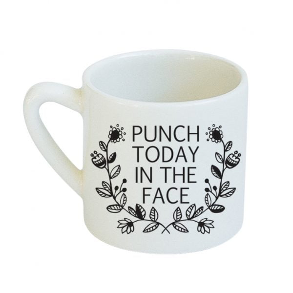 Coffee Cups for Sale - Punch Today in the Face ceramic mug online - Sugar & Vice - Cape Town