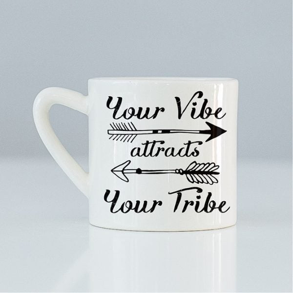 Creative Coffee Mugs - Your vibe attracts your tribe ceramic mug online - Sugar & Vice