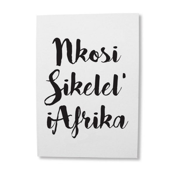 Greeting Cards South Africa - Nkosi Sikilel' greeting card online - Sugar and Vice - South Africa