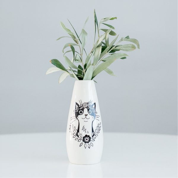 home decor online south africa - Bohemian cat ceramic vase online - Sugar and Vice - South Africa