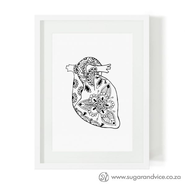 Heart limited edition art print online - Sugar and Vice - Cape Town
