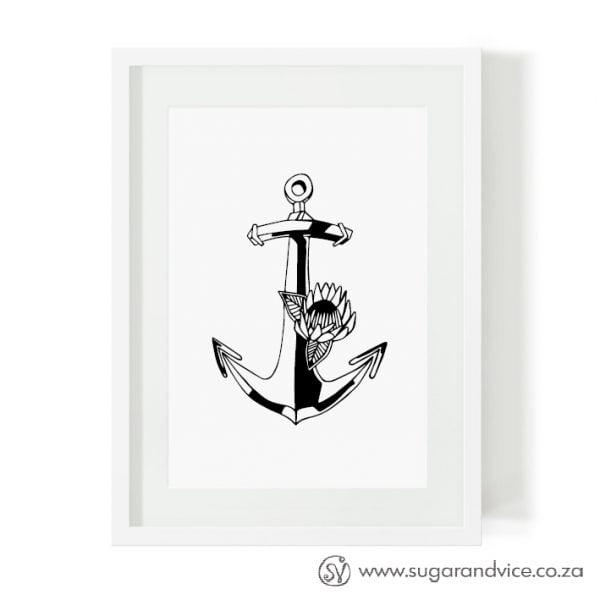 Nautical anchor fine art print online - Sugar and Vice - South Africa