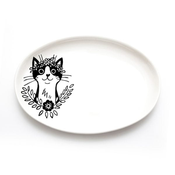 Handmade cat jewellery plate online - Sugar and Vice - Cape Town